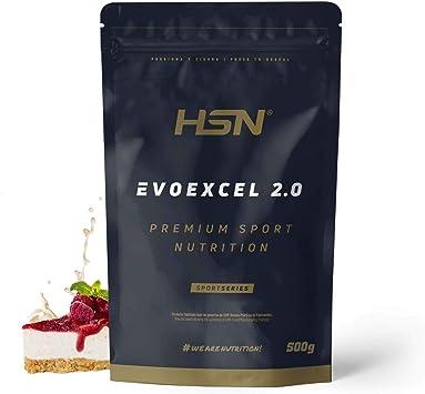 Whey Protein Isolate + Concentrate de HSN Evoexcel 2.0 | Batido de Proteínas con Enzimas Digestivas + Probióticos + Calostro | Vegetariano, Sabor ...
