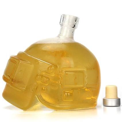 Uarter Jarra de vidrio para botellas de vino Jarra de whisky multiusos Botella de vodka creativa