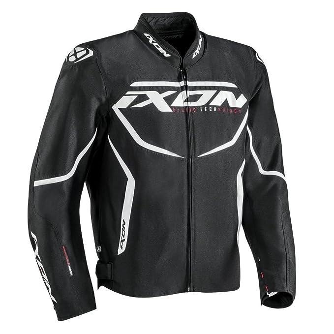 Ixon - Chaqueta de moto para Sprinter, negro/blanco, talla L: Amazon.es: Coche y moto