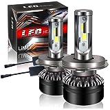 【最新モデル登場】LIMEY H4 Hi/Lo LED ヘッドライト バイク/車用 車検対応 明るい 10000LM(5000LM*2) 60W(30W*2) 12V車対応(ハイブリッド車・EV車対応) ホワイト 6500K 放熱性抜群 静音ファン付き CSP社製ledチップ搭載 1年保証 日本語取説&保証書付 2個入