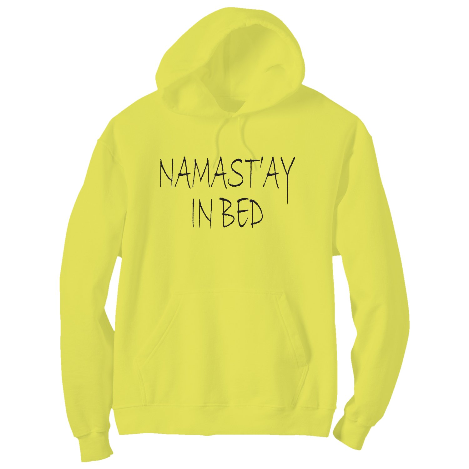 6 Bright Colors Namastay in Bed Bright Neon Adult Pullover Hoodie