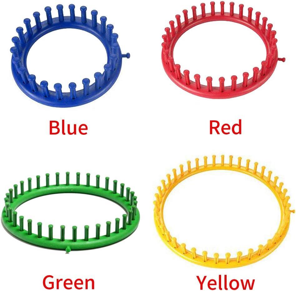 blu sciarpa a cerchio fatta a mano e ago di sutura PP cucito a casa circolare strumento Taglia libera Blu Tongdejing telai per lavori a maglia fai da te