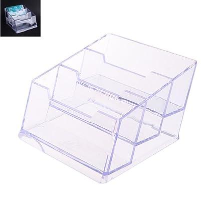 lunji puerta tarjeta de visita plástico – Bandeja escritorio, 3 compartimentos