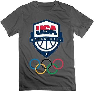 Alfombrilla Q VO Hombre Rio 2016 Juegos Olímpicos EE. UU. Baloncesto Logo del equipo Camisetas Camiseta De/Color Blanco: Amazon.es: Ropa y accesorios
