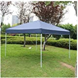Sun 10 x 10 inch Outdoor Camping Party Pop Up Canopy Tent Portable Shade Instant Folding Gazebo with Carry Bag (Blue)