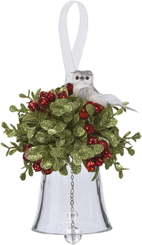 Ganz Mistletoe Owl Acrylic Bell