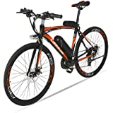 GTYW, Bicicleta Eléctrica, Macho/Hembra, Bicicleta, Bicicleta De Carretera, 240W * 36V * 10ah-20ah, Refuerzo De 100km, Acero con Alto Contenido De Carbono,D-36v20ah