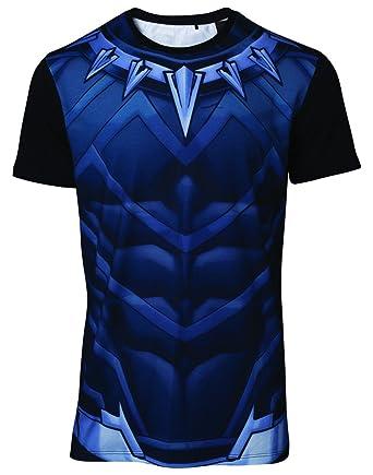 b532f2b7ee6d4 Meroncourt Men s Marvel Comics Black Panther Sublimation T-Shirt Blue