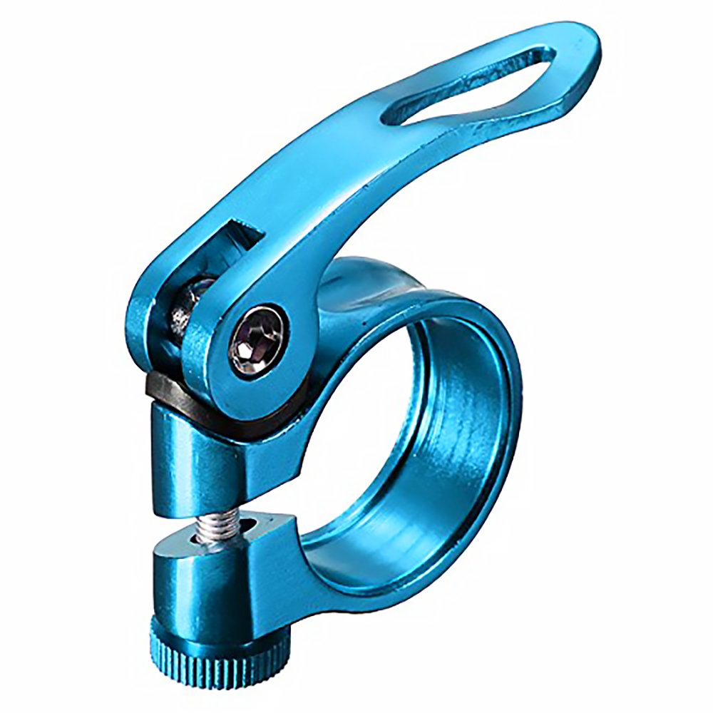 Alloy Cycling Bike Bicycle Quick Release Seat Post Bolt Binder Clamp 31.8mm