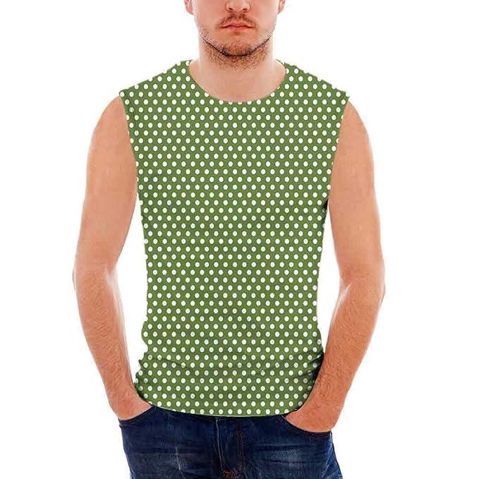 25e227ad690263 Amazon.com  Mens Performance Muscle T- Shirts Green