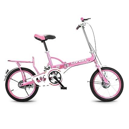 XQ Bicicleta Plegable 16 Pulgadas Adultos Bicicleta Plegable Velocidad Única Ultralight Mojadura Hombres Y Mujeres Estudiante