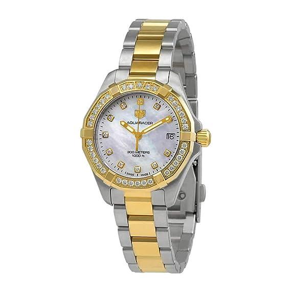 Tag Heuer WBD1323.BB0320 - Reloj para mujer con esfera de diamante de nácar