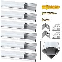Perfil de Aluminio, Jirvyuk 6 Pack 1 m/3,3