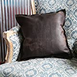 The Adelaide Rough And Ready American Bison Leather Pillow