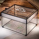 J Devlin Box 841 CBE846 Personalized Wedding Card Box Engraved Glass Wedding Card Holder with Slot Reception Decor Keepsake Display