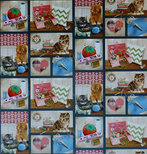 Krafty Kittens~Kitten Pictures in Squares~ by SPX Farbric...