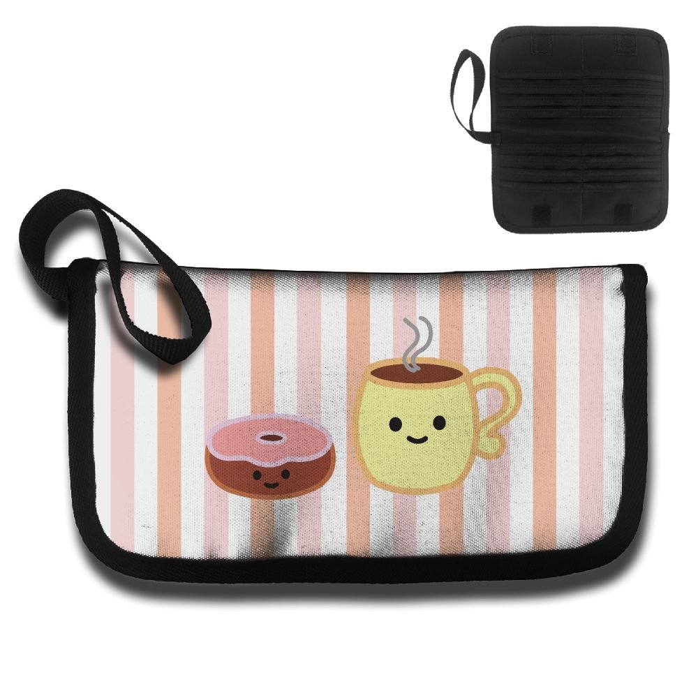 Donut And Coffee Multi-function Travel Document Receipt And Receipt Bag Fashion Printing Card Package