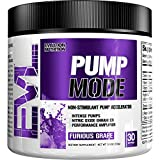 Evlution Nutrition Pump Mode Nitric Oxide Booster to Support Intense Pumps, Performance and Vascularity, 30 Servings (Furious Grape)