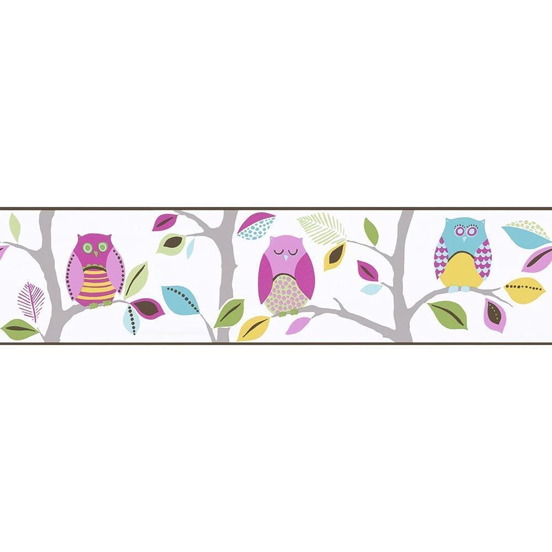 Bright Owls Self Adhesive Border (8955-23) AS Creation
