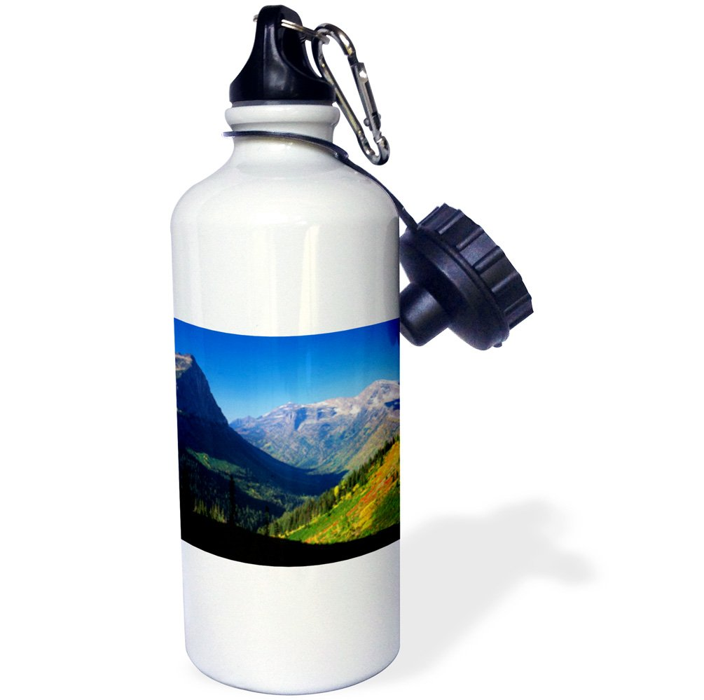 USA-US27 AJE0112-Adam Jones Sports Water Bottle Glacier National Park Montana White USA-US27 AJE0112-Adam Jones Sports Water Bottle 21 oz 3dRose wb/_144751/_1Logan Pass