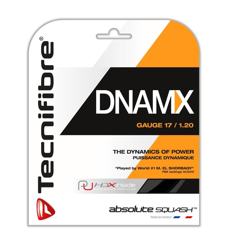 Tecnifibre dnamx Cordaje para raqueta de squash, color negro 9,7m set