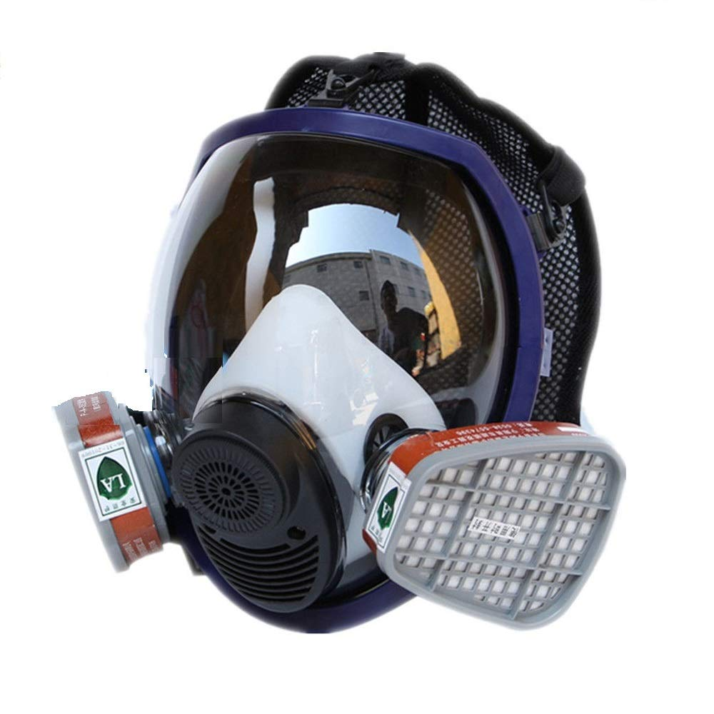 Masque respiratoire pour peinture pulvérisation pour 3m 6800Masque à gaz britannique intégral 38 cm DW-800