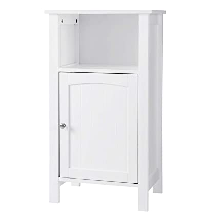 amazon com vasagle bathroom floor storage cabinet with single door rh amazon com