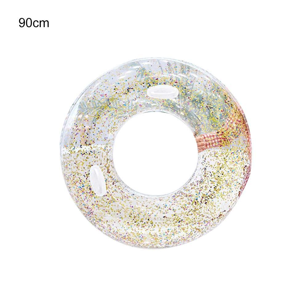 BNMdff Swim Ring, Anneau de Natation Flash Gonflable de Ceinture Transparente Gonflable en été 2019 adapté aux Enfants Adultes