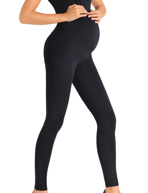 Trendy Legs Plush Dorothy Leggings De Maternidad Largos Lisos Para Mujeres - Hechos En La UE Negro