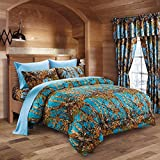 20 Lakes Luxurious Microfiber Sea Breeze & Pink Camo Comforter & Sheet Set Bed in a Bag - Full
