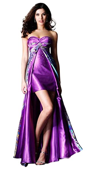 Clarisse Strapless Print High Low Prom Dress 1436 at Amazon Women\'s ...