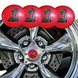 wheel center cap mustang - Hot Red Style Shelby Cobra Emblem 56.5mm Wheel Center Cap Covers For Mustang