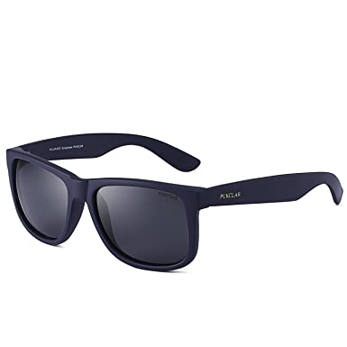 4b362b3153d Mens Polarized Sunglasses Black Sunglasses Womens UV Protection Ultra Light  pk1004 (C-1 Black