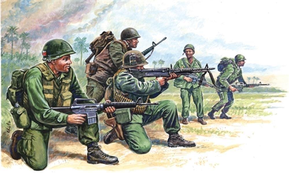 Italeri S US Special Forces Ejército estadounidense Guerra de Vietnam a escala
