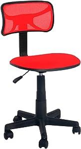 Urban Shop Swivel Mesh Task Chair, Red