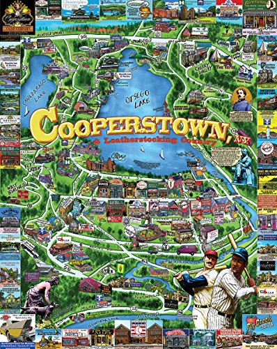 (White Mountain Puzzles Cooperstown NY - 1000 Piece Jigsaw Puzzle)