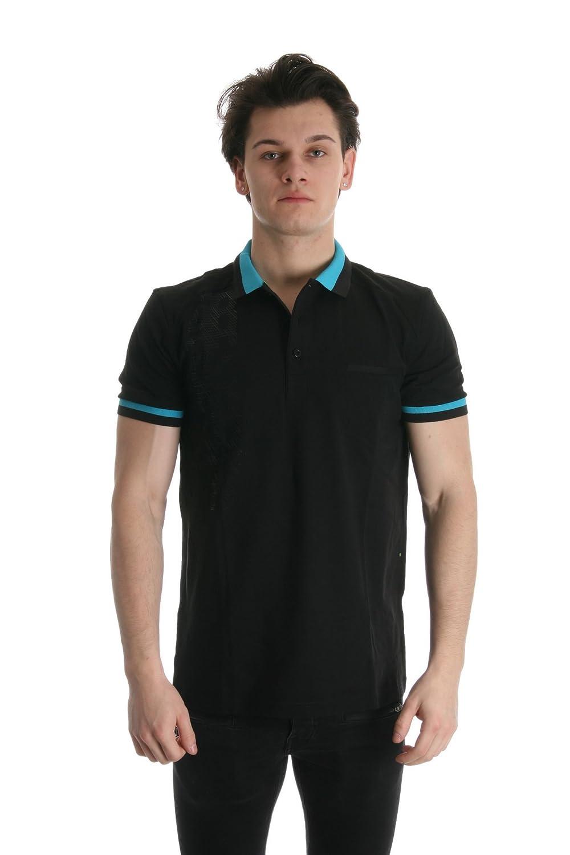 Hugo Boss Mens Paule 2 Polo Shirt Black//Turquoise