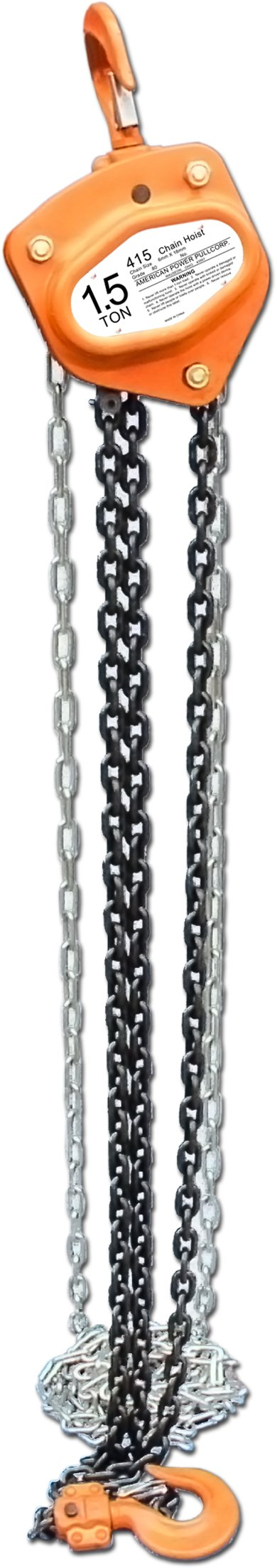 American Power Pull 415 Chain Block, 1-1/2-Ton