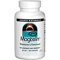 Magtein Source Naturals Inc, 667 MG, 180 Capsules