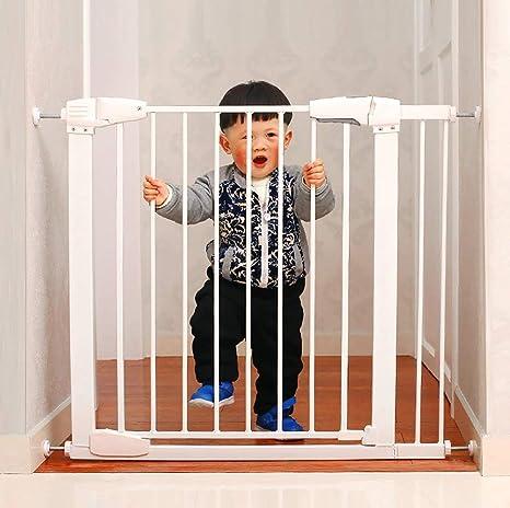 L.TSA Puertas de Seguridad 1m Puerta de Seguridad para bebés elevada Puertas Altas para bebés Puerta para bebés con Puerta para Mascotas para escaleras Blanco: Amazon.es: Deportes y aire libre