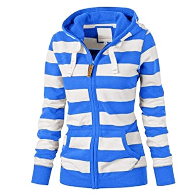 free shipping ea860 1ddc4 KIMODO Pullover Damen, Lang Kapuzenpullover Kapuzenjacke Hoodie Zipper Tops  Mantel Jacke dünne Jumper, Blau Grau Gelb Schwarz, S-4XL