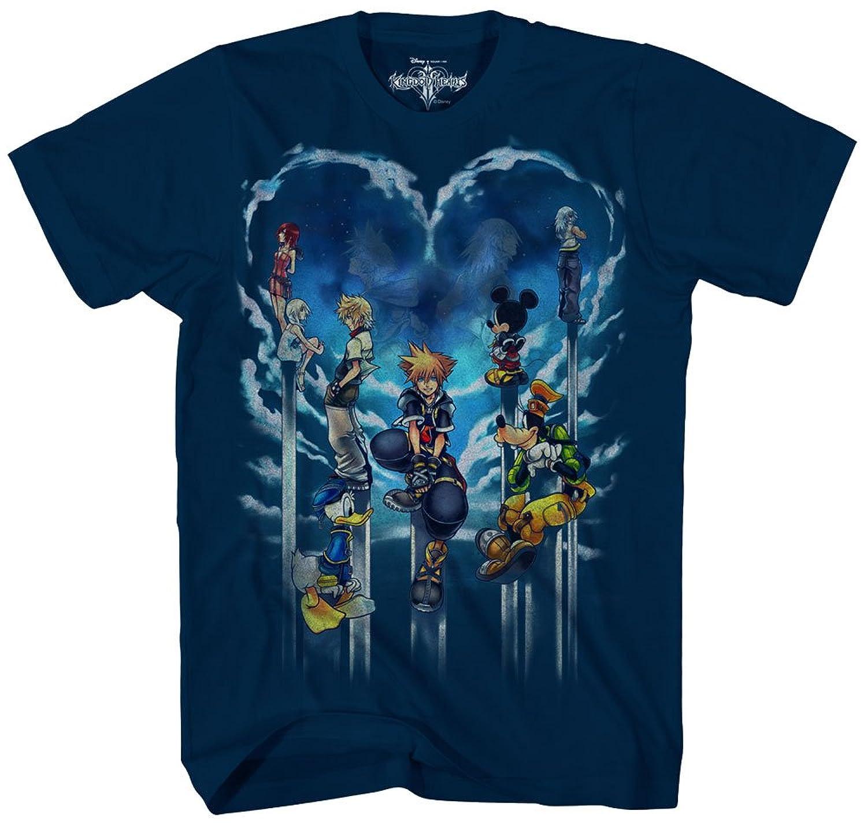 Kingdom Hearts Mens Clouded Horizon Short Sleeve T-Shirt