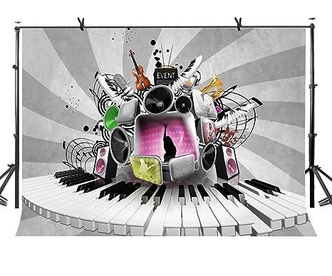 LYLYCTY LYLX441 - Llavero de Piano con Fondo Gris de telón ...