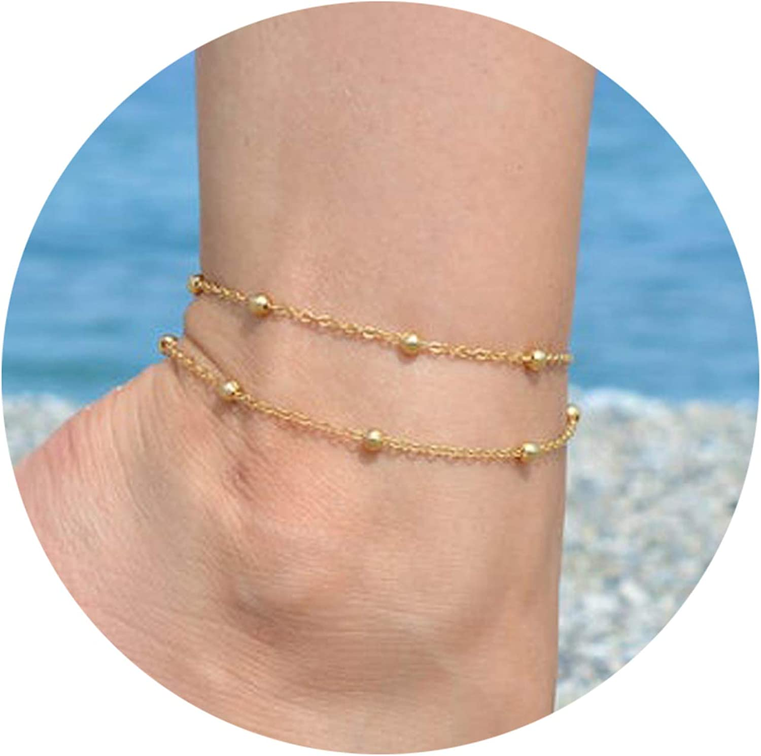 Highven Beads Heart Anklets...