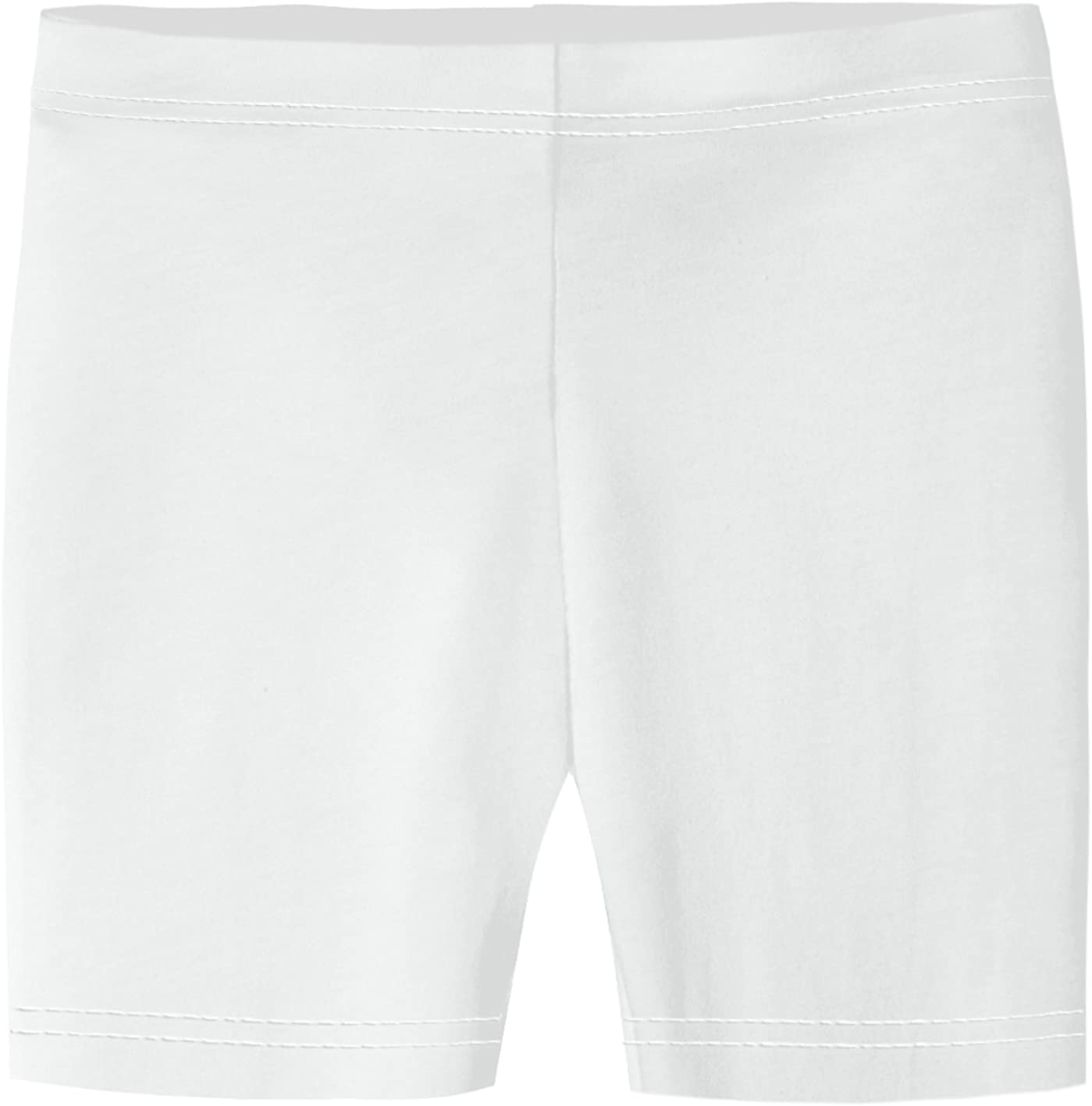 City Threads Girls' 100% Cotton Bike Shorts for Sports, School Uniform, or Under Skirts Made in USA: Clothing