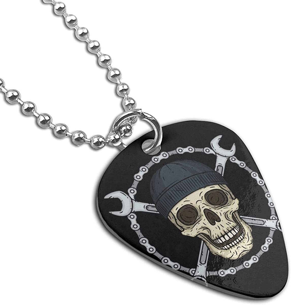Skull Mechanic Custom Guitar Pick Pendant Necklace Keychain