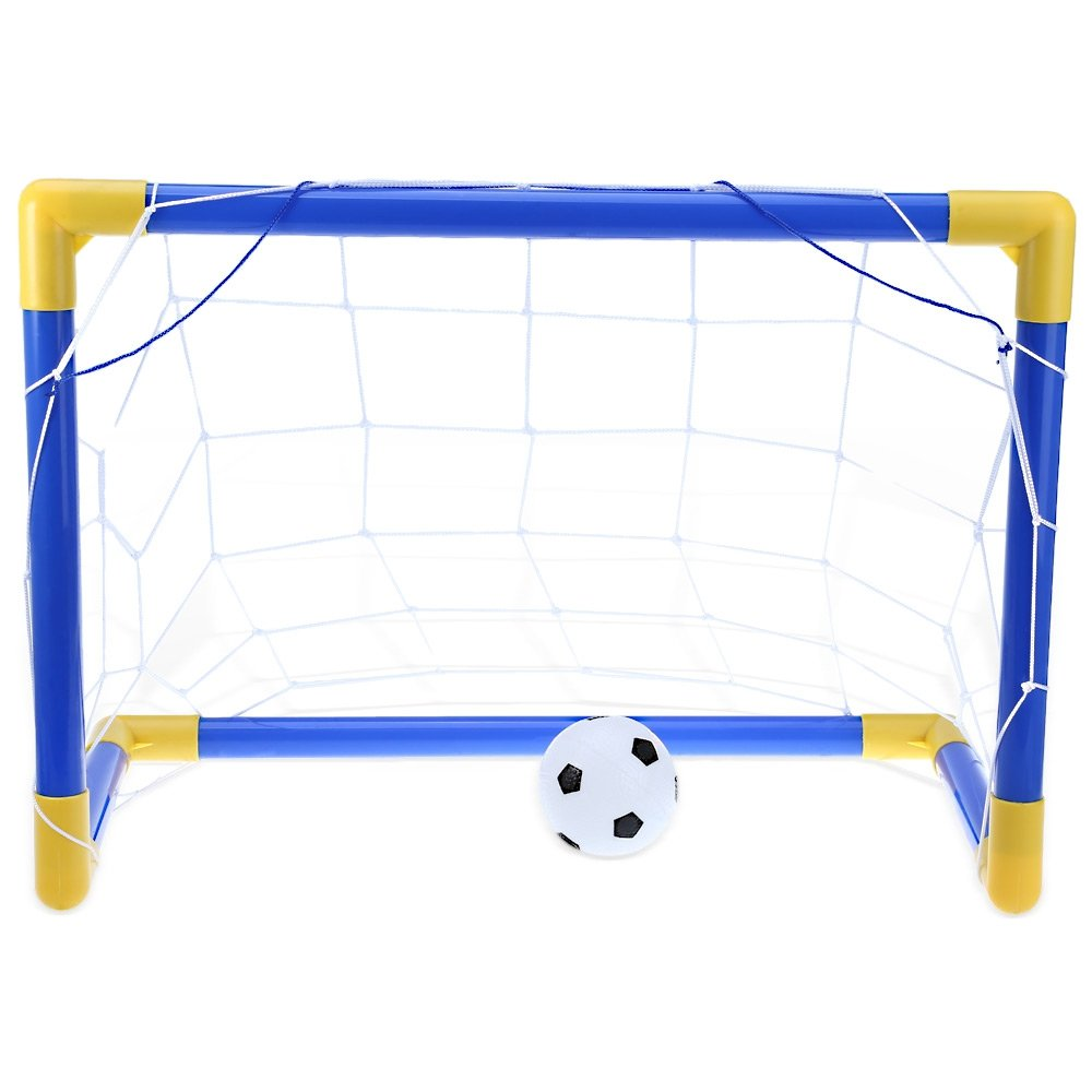 LOLPI Mini Football Soccer Goal Post Net Set with Pump Kids Sport Toy by LOLPI