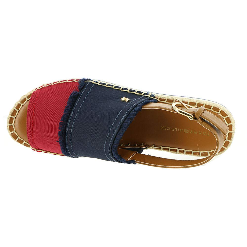 1795d8fc2bf Tommy Hilfiger Women s Grove Sandal Navy-Persimmon-Caramel 8 M US  Buy  Online at Low Prices in India - Amazon.in