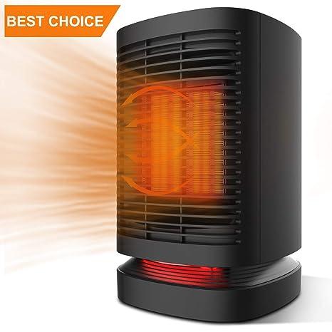 DOUHE Calefactor de Aire Caliente Portatil, Calentador Eléctrico Cerámico PTC Cerámico 950W/650W Bajo