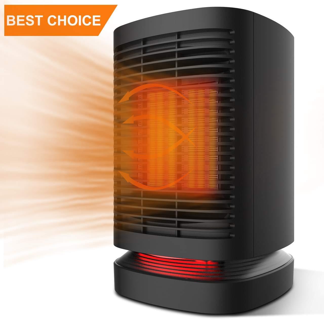 DOUHE Calefactor Eléctrico Cerámica, Calentador de Aire Caliente de Bajo Consumo Estufa Portatil Espacio Personal